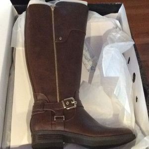 Shoes - Guess Hanson's Dark Brown wide Leg Riding Boot